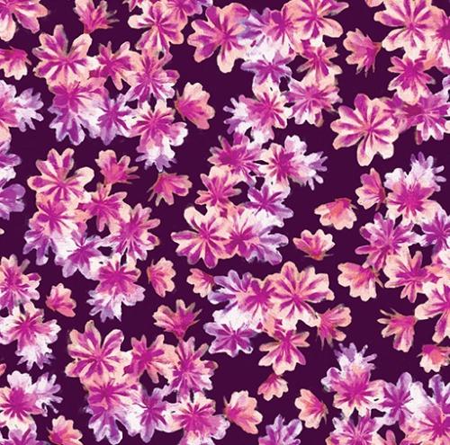 KANVAS STUDIO - Blooming Beauty - Breezy Blooms - Purple