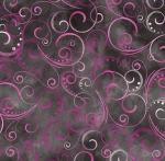 KANVAS STUDIO - Blooming Beauty - Swirling Splendor - Charcoal Gray