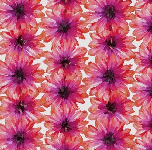 KANVAS STUDIO - Blooming Beauty - Blooming Flowers - Coral Pink