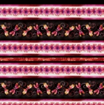 KANVAS STUDIO - Blooming Beauty - Majestic Stripe - Coral Pink