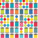 BENARTEX - Sew Excited - Spools of Fun White