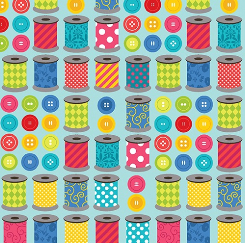 BENARTEX - Sew Excited - Spools of Fun Turquoise