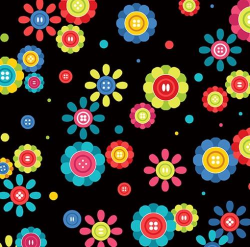 BENARTEX - Sew Excited - Cute As A Button - Black