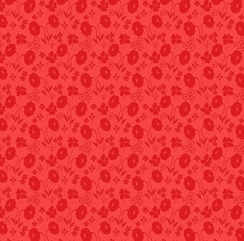 BENARTEX - Sew Excited - Floral Fun Red