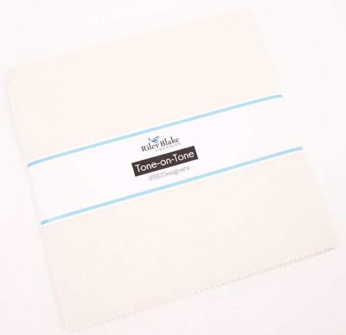Riley Blake - Text Tone On Tone - Cream 10 Inch Stacker 42pcs