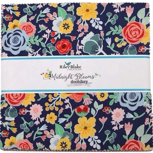 Riley Blake -  Midnight  Blooms 10 inch Stacker