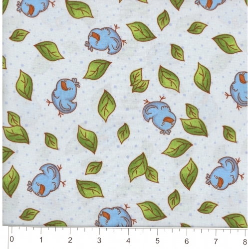 FABRI-QUILT, INC - Baby Coordinates Mr Fox & Friends - Bluebirds
