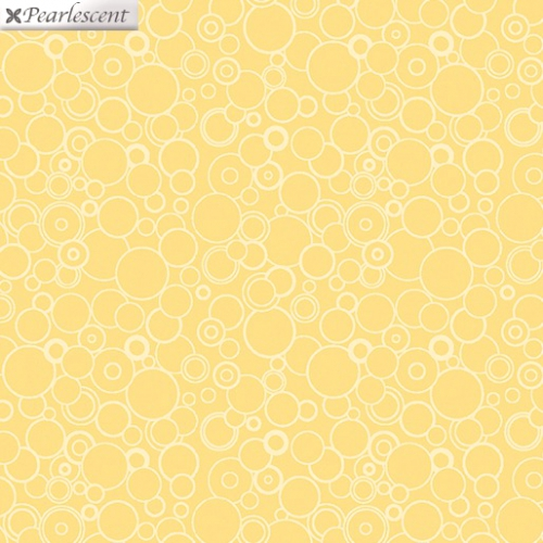 BENARTEX - Lilyanne - Circles Yellow - Pearlized