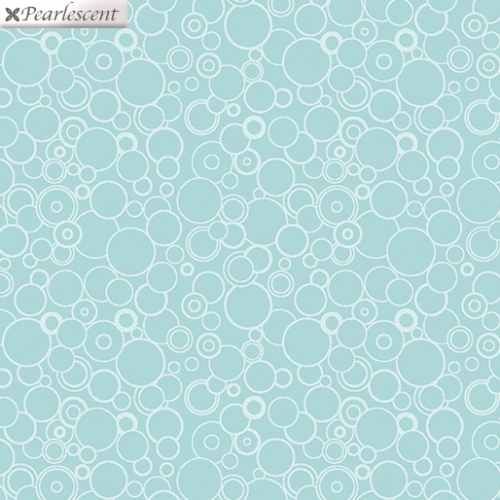 BENARTEX - Lilyanne - Circles Turquoise - Pearlized