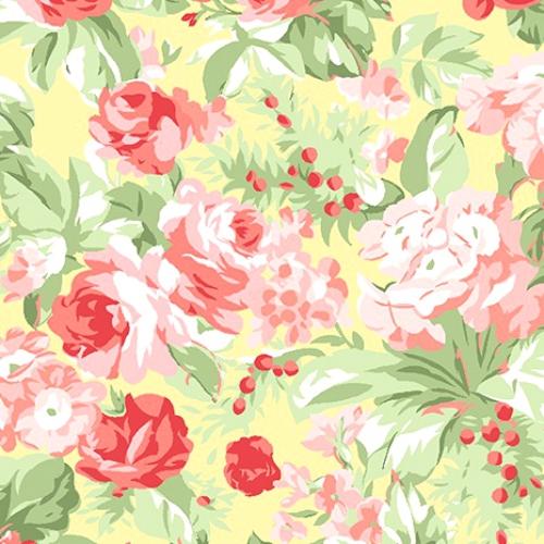 BENARTEX - Garden Party By Eleanor Burns- Floribunda - Butter