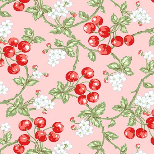 BENARTEX - Garden Party By Eleanor Burns - Wild Cherries - Pink