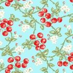 BENARTEX - Garden Party By Eleanor Burns - Wild Cherries - Blue