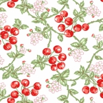 BENARTEX - Garden Party By Eleanor Burns - Wild Cherries - White
