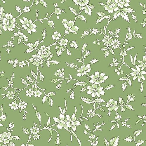 BENARTEX - Garden Party By Eleanor Burns - Queen Annes Lace - Green