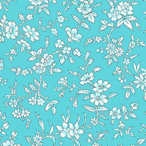 BENARTEX - Garden Party By Eleanor Burns - Queen Annes Lace - Teal