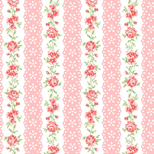 BENARTEX - Garden Party By Eleanor Burns - Lacewing - Pink