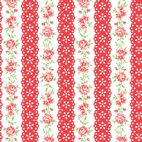 BENARTEX - Garden Party By Eleanor Burns - Lacewing - Red