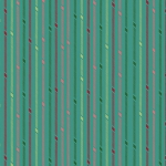 BENARTEX - Better Not Pout - Candy Stripe - Turquoise
