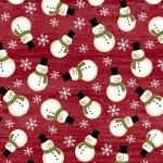 BENARTEX - A Jingle Bell Christmas - Painted Sky Studio - Crossroads Snowman - Red