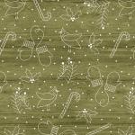 BENARTEX - A Jingle Bell Christmas - Painted Sky Studio - Whimsical Winter - Green
