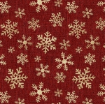 BENARTEX - A Jingle Bell Christmas - Painted Sky Studio - Crossroads Snowflake - Red