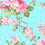 BENARTEX - Rose Whispers by Eleanor Burns - Pearlized - Rose Garden - Aqua