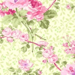 BENARTEX - Rose Whispers by Eleanor Burns - Pearlized - Rose Garden - Green