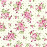 BENARTEX - Rose Whispers by Eleanor Burns - Rose Bouquet - Cream