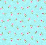 BENARTEX - Rose Whispers by Eleanor Burns - Pearlized - Rose Bud - Aqua