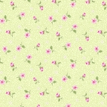 BENARTEX - Rose Whispers by Eleanor Burns - Pearlized - Rose Bud - Green