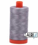 Aurifil Light Grey 50 wt Cotton 1422 yd