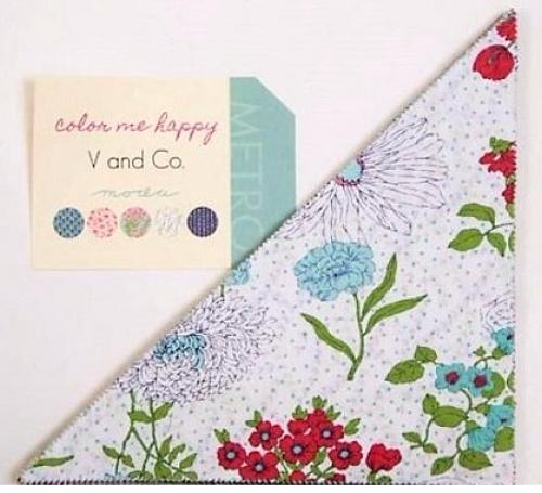 Color Me Happy Slice 10 inch Triangles by V and Co - Moda Precuts