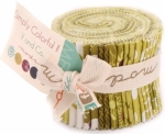 Greens Simply Colorful II Junior Jelly Roll by V and Co Moda