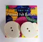 Paisley Felt Buttons 1.75 inch (4pc)