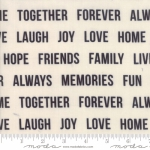 MODA FABRICS - Urban Cottage Prints - Words - Backing 108