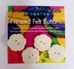 Felt Flower Buttons 1 inch (4pc)