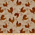 FABRI-QUILT, INC - Rooster Inn - Tonal Roosters - FB7095