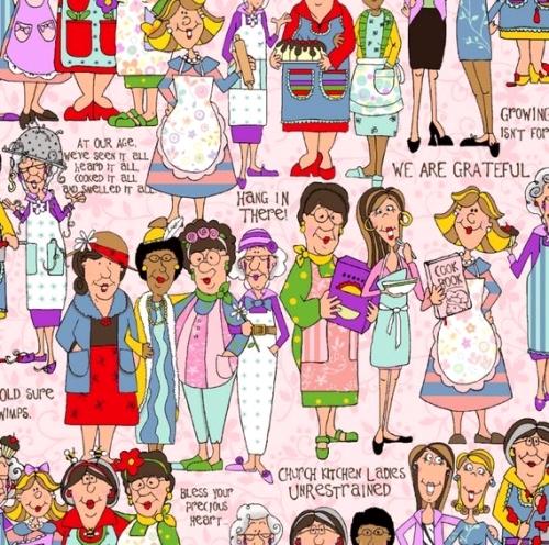 FABRI-QUILT, INC - Church Kitchen Ladies - Standing Pink - #2196-
