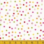 FABRI-QUILT, INC - Hannah's Dots - White #689-