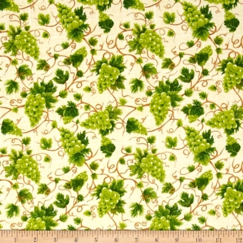 FABRI-QUILT, INC - Fresh Harvest - Grappes   FB5203