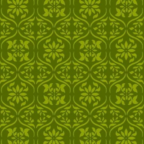 FABRI-QUILT, INC - Fresh Harvest - Tonal Damask Green