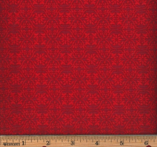 FABRI-QUILT, INC - Fresh Harvest Tonal Damask - Red