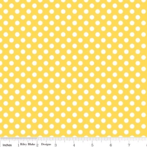 FABRI-QUILT, INC - Eggcellent Adventure Dots - Yellow #726-