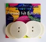 Round Felt Buttons 1.75 inch (4pc)