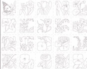 PAINTBRUSH STUDIO - Flower Garden
