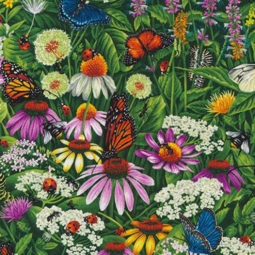 FABRI-QUILT, INC - Frolicking Fields - Flowers and Leaves