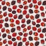 FABRI-QUILT, INC - Frolicking Fields - Lady Bugs - Ecru