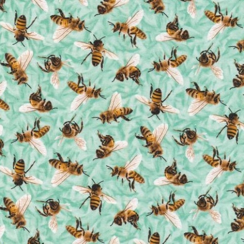 PAINTBRUSH STUDIO - Frolicking Fields - Bees - Turquoise
