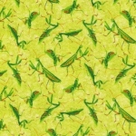 FABRI-QUILT, INC - Frolicking Fields - Praying Mantis - Green