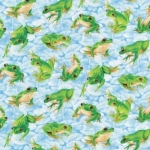 FABRI-QUILT, INC - Frolicking Fields - Frogs - Blue